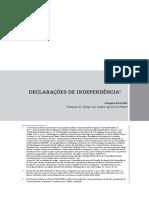 Tradução Jacques Derrida - Declarações de Independência