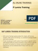 Sap Lumira Training - Ppt