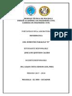 Portafolio de Informatica Jose Luis Quevedo Calero