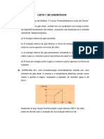 LISTA DE EXERCÍCIOS FÍSICA II