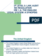 Lecture 1A - English Legal System
