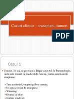 Cazuri Transplant, Tumori