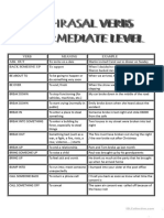 List of Phrasal Verbs for Intermediate Level Stude
