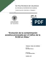 Evolución de La Contaminación Acústica Provocada Por El Tráfico de La N-332 en Altea