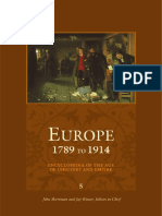 Europe 1789 to 1914 Encyclopedia of the Age of Industry and Empire Europe