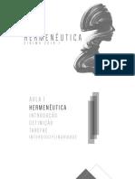 HERMENÊUTICA - AULA 1