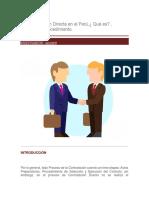 La Contratación Directa en El Perú