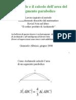 parabola archimede