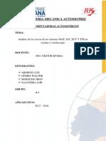 Análisis de Las Curvas de Los Sensores MAP, IAT, ECT Y TPS en Escáner y Osciloscopio