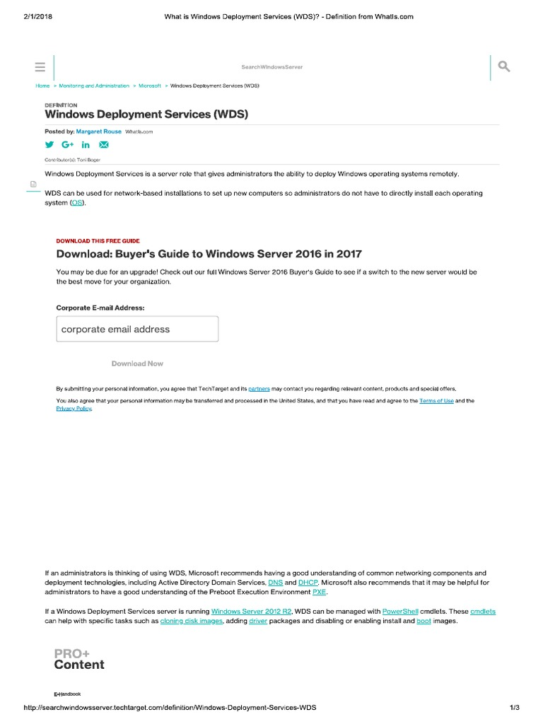 Windows Deployment Services WDS