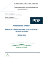 Prix Algerien de La Qualite Edition 2014 - Questionnaire