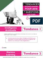 Onopia - 7 Tendances Technologiques en 2018 & 7 Questions à se poser