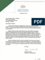 Sen. Judy Schwank letter exchange with PennDOT