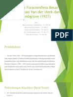 Zonasi Foraminifera Besar Klasifikasi Van Der Vlerk Dan Umbgrove
