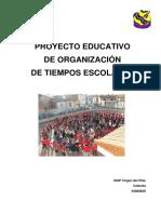 Proyecto de Organización de Tiempos Escolares