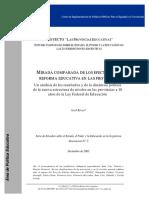 Rivas - Mirada Comparada de Los Efectos de La Reforma Educativa en Las Provincias