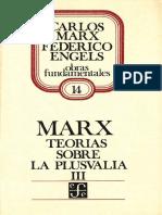 Carlos Marx Teorias Sobre Plusvalia  Tomo 3.pdf
