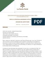 9. Visita a La Pontificia Universidad Católica de Chile