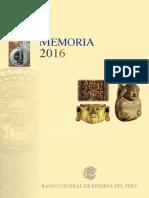 Memoria Bcrp 2016