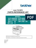 Brother_DCP8080_ DCP8085_MFC8480_MFC8680_MFC8690_MFC8880_MFC881MFC_MFC8890_Parts