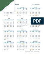 Calendario 2018 Una Pagina Ven