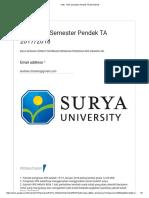 CHE - KRS Semester Pendek TA 2017_2018