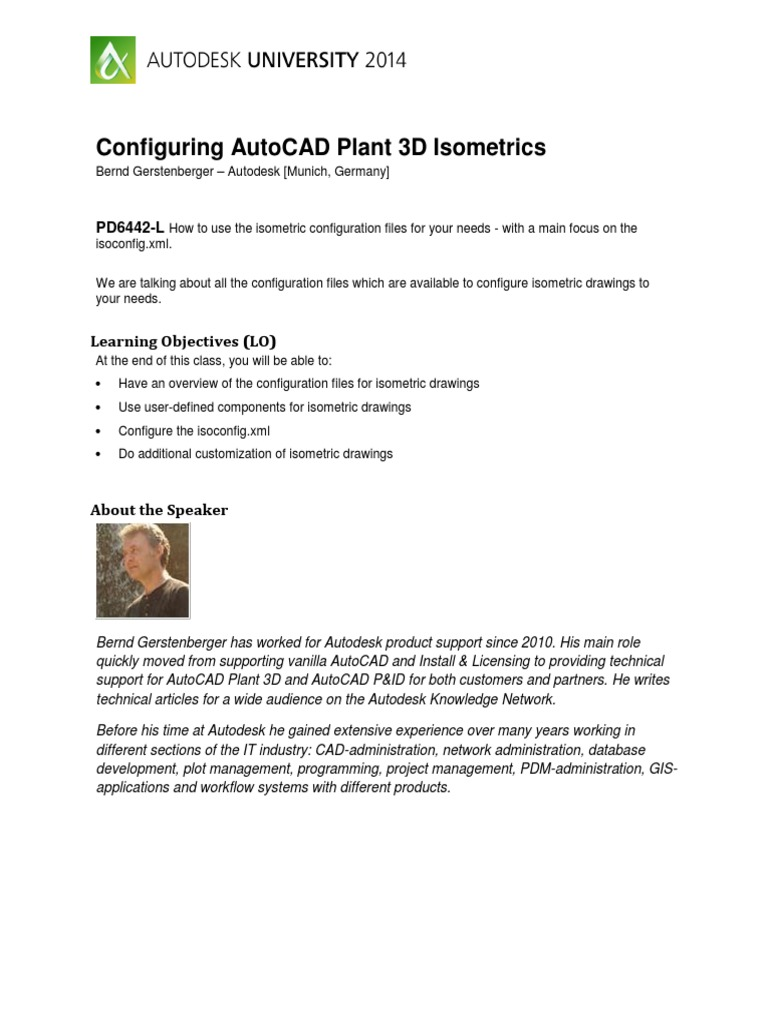 Configuring AutoCADPlant3DIsometrics | Auto Cad | Pipe (Fluid