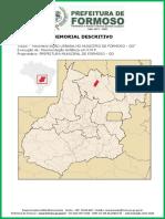 Memorial Descritivo - Pavimentação - P.M.F