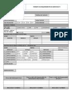 Formato Requerimiento de Servicios - Ti Vigente