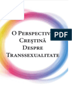 O perspectivă creștină despre transsexualitate