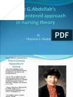 Nursing Theory-Patient-Centered Approaches to Nurses.