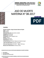 CASO DE MUERTE MATERNA N° 08-2017