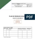 H0 ADT PL SSO 0005_00 Plan de Residuos Solidos