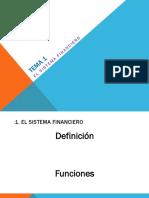 Tema 1 El Sistema Financiero