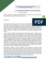 Nociones Científicas en El Pensamiento Filosófico de José Vasconcelos.