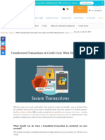 Unauthorized Transactions on Credit Card_ What Should You Do