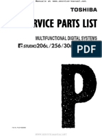 E-Studio 206L, 256, 256SE Series Parts List