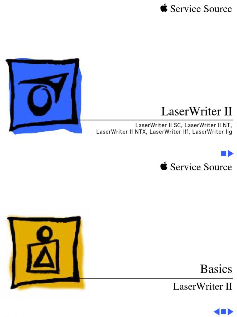 Apple LaserWriter II Service Source | Printer (Computing) | Electrical  Connector