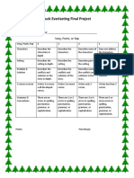 final project rubric 2018