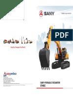 Especificaciones Excavadora Sany 465C(Folleto)
