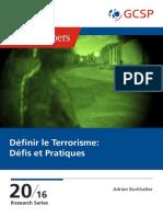 GP 20 - A. Burkhalter - Definir Le Terrorisme