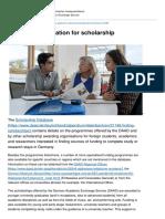 Deutschland Stipendium Hinweise en Important Information for Scholarship Applicants