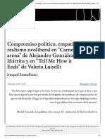 Compromiso político, empatía y realismo neoliberal en _Carne y arena_ de Alejandro González Iñárritu y en _Tell Me How it Ends_ de Valeria Luiselli — Campo de relámpagos