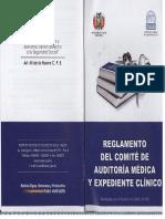 Reglamento Del Comite de Auditoria Medica y Expediente Clinico