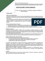 Especificaciones Tecnicas Mariano Melgar