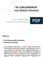 Concordancia Verbal e Nominal