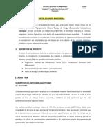 Memoria Desc. Inst. Sanitarias Pampa