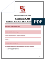 Banking Law Session Plan