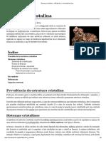 Estrutura Cristalina – Wikipédia, A Enciclopédia Livre