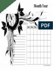 Monthly Calendar Notes Designer 3